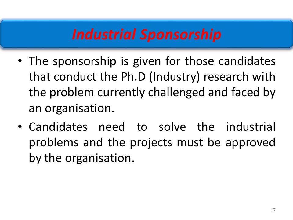Industrial Sponsorship
