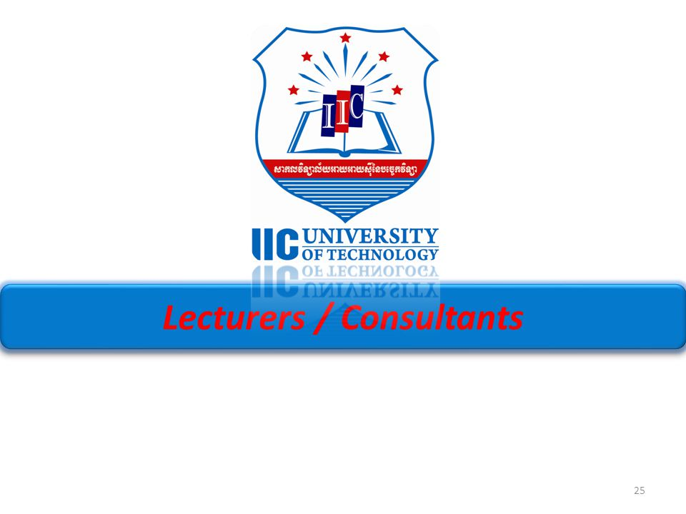 Lecturers / Consultants