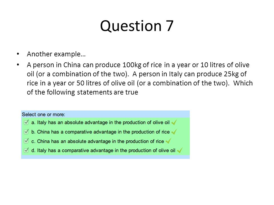 Question 7 Another example…