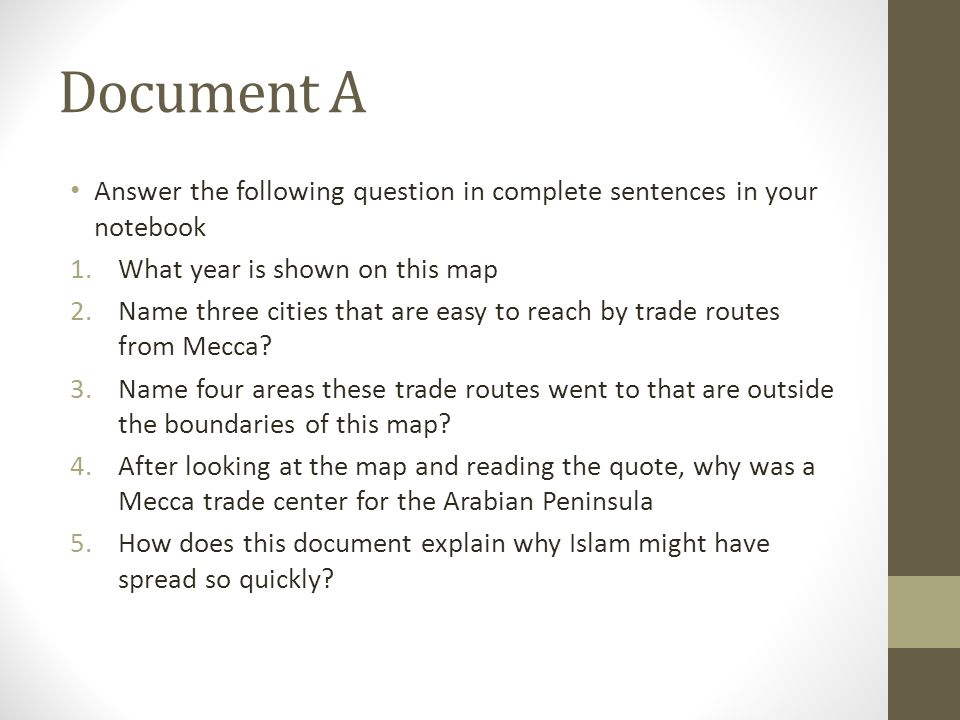 Document A Answer the following question in complete sentences in your notebook. What year is shown on this map.