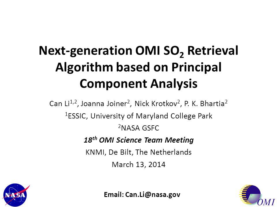 18th OMI Science Team Meeting