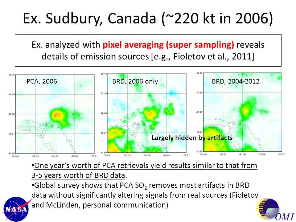 Ex. Sudbury, Canada (~220 kt in 2006)