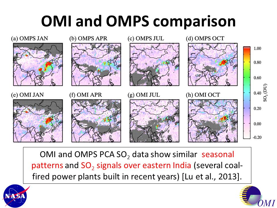 OMI and OMPS comparison