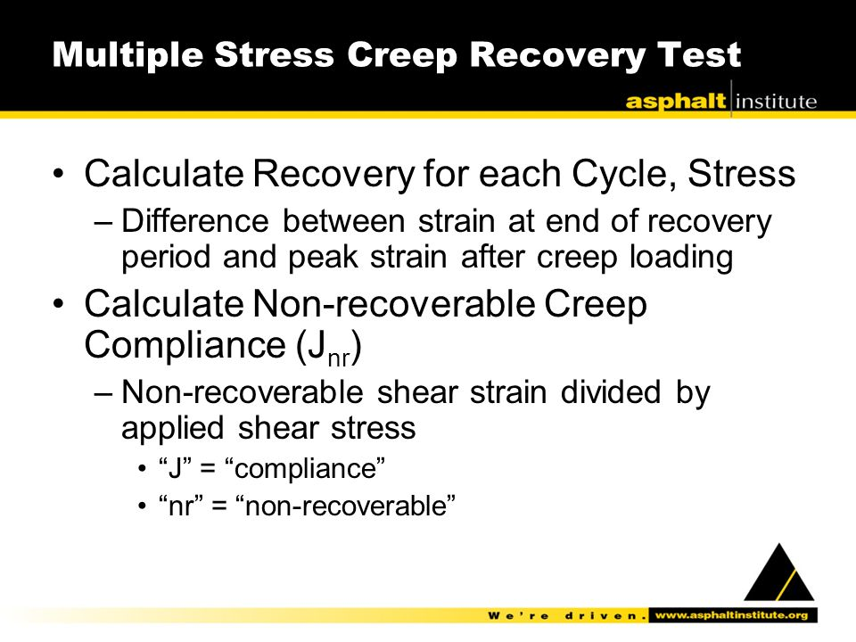 Multiple Stress Creep Recovery Test