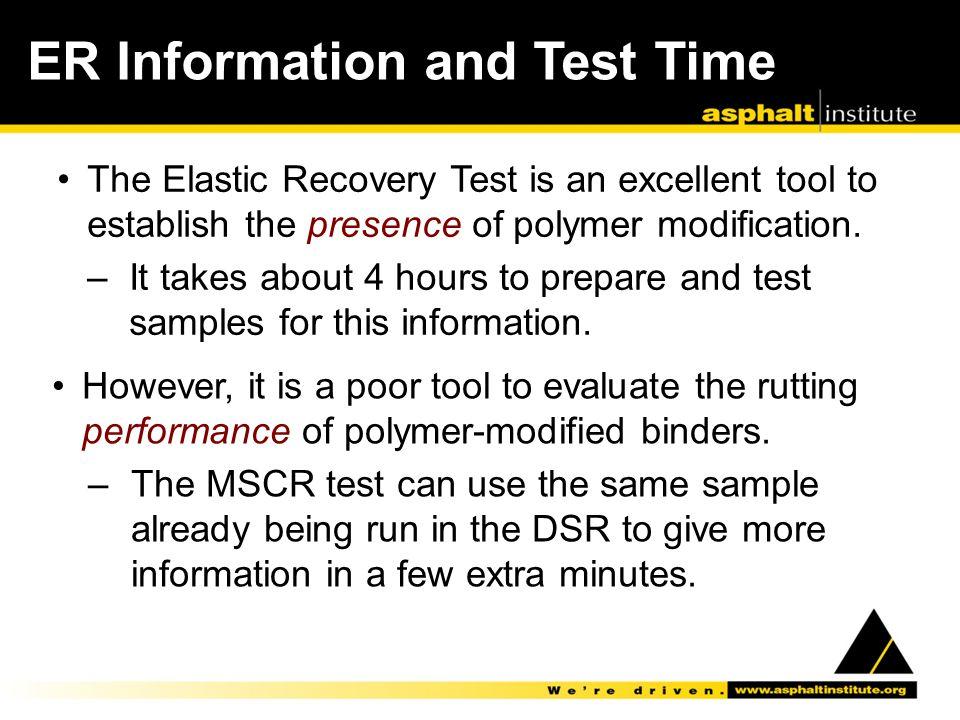 ER Information and Test Time