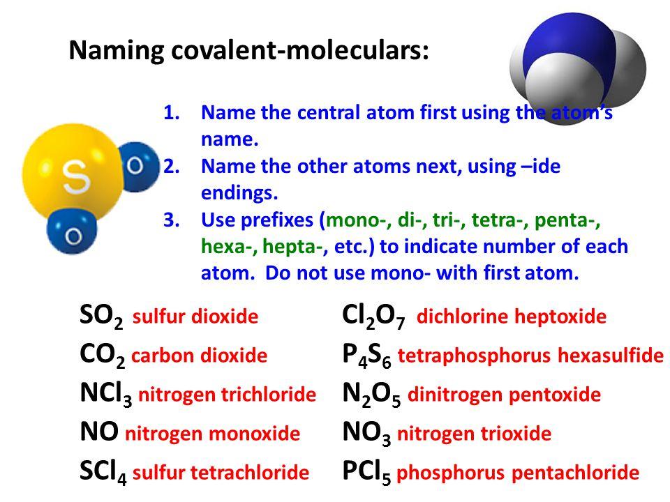 Naming covalent-moleculars: