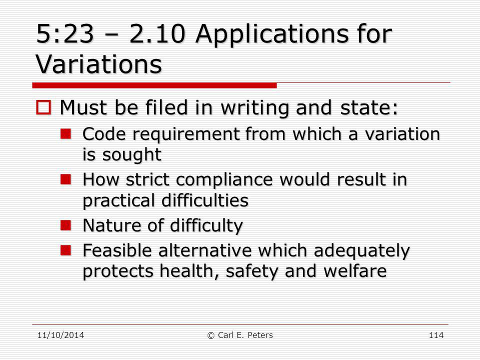 5:23 – 2.10 Applications for Variations