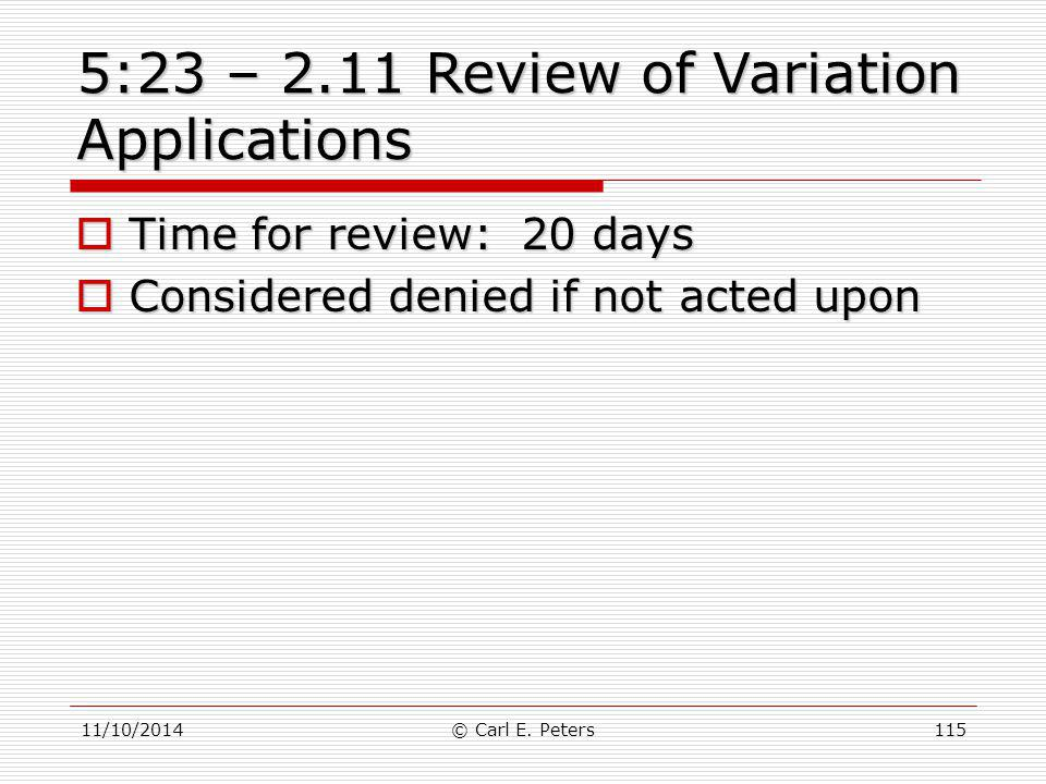 5:23 – 2.11 Review of Variation Applications