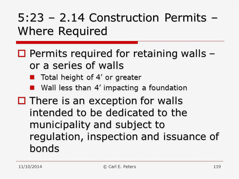 5:23 – 2.14 Construction Permits – Where Required