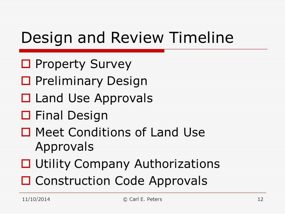 Design and Review Timeline