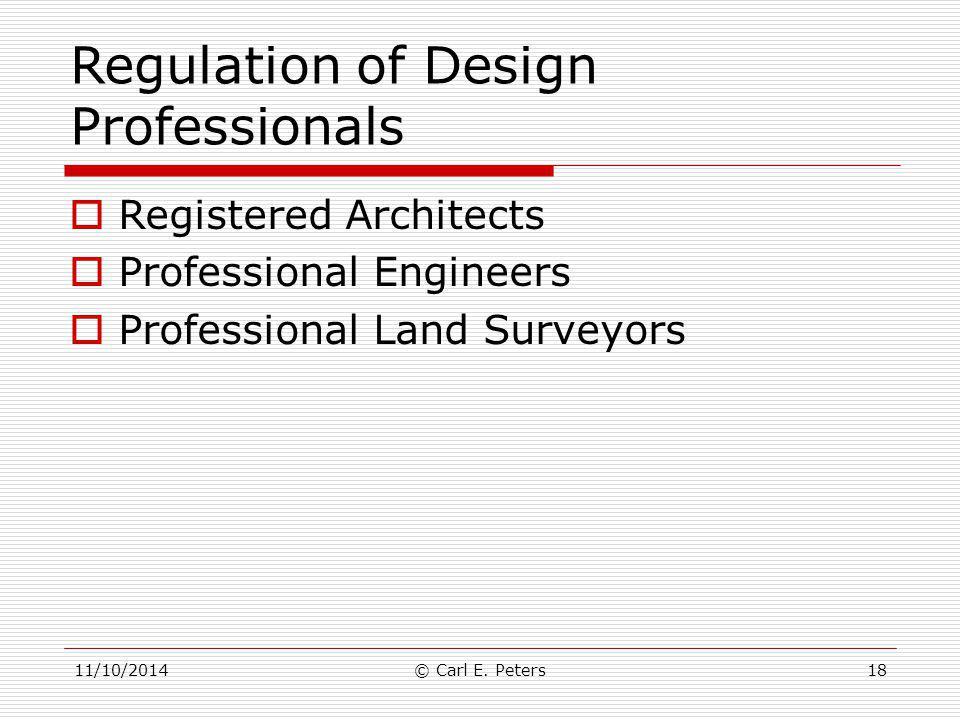 Regulation of Design Professionals