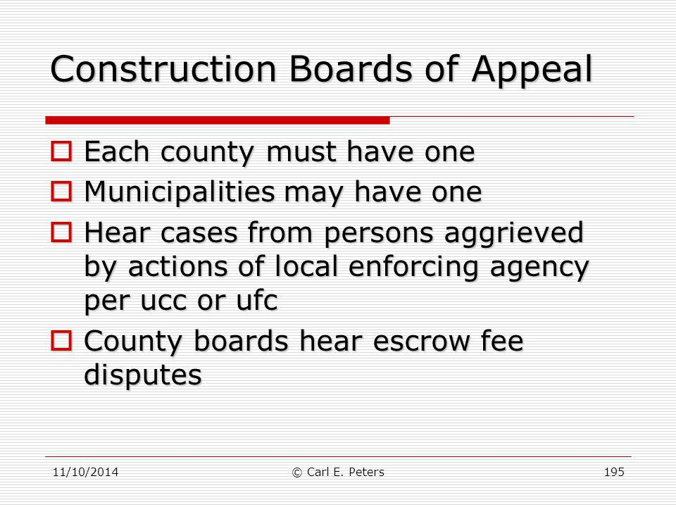 Construction Boards of Appeal