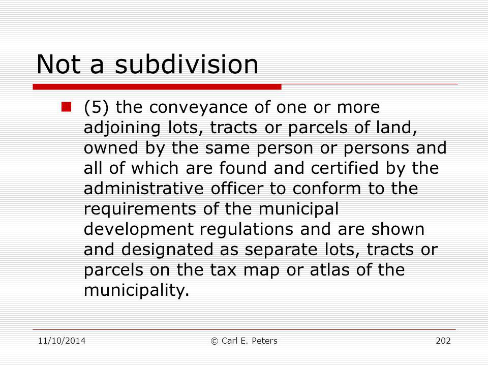 Not a subdivision