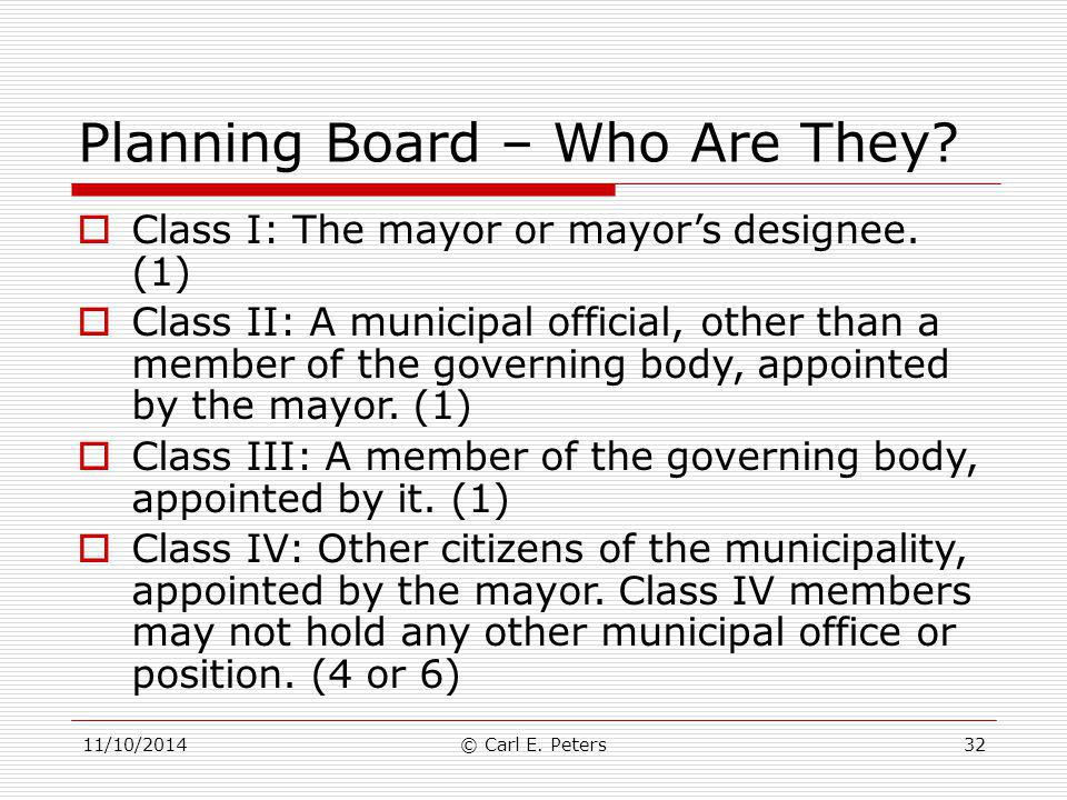 Planning Board – Who Are They