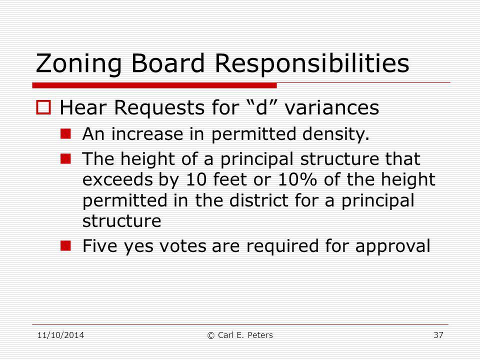 Zoning Board Responsibilities