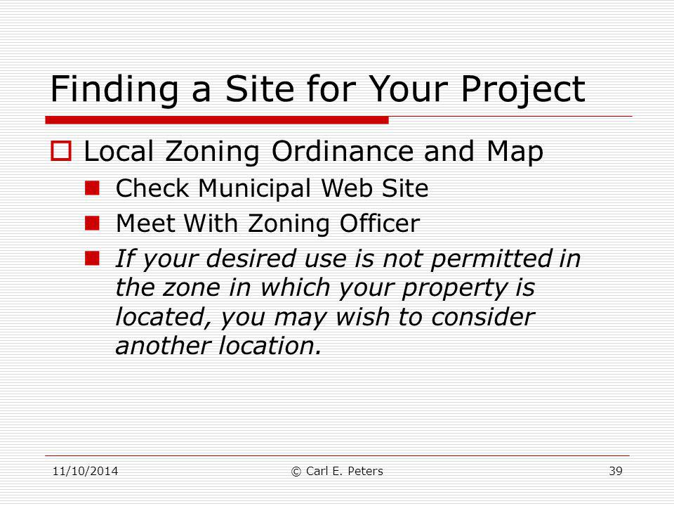Finding a Site for Your Project