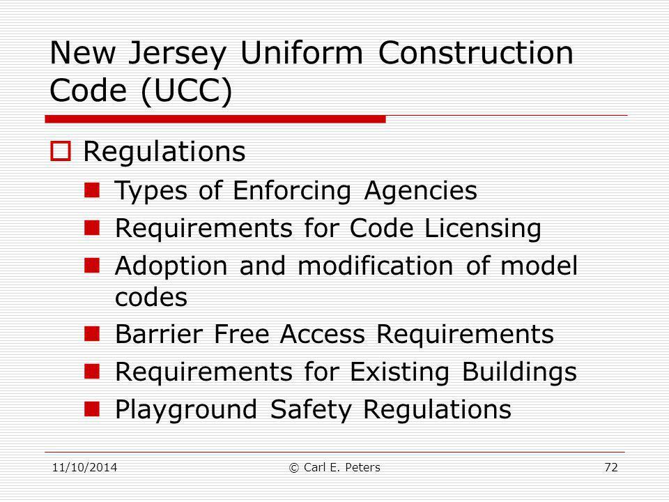 New Jersey Uniform Construction Code (UCC)