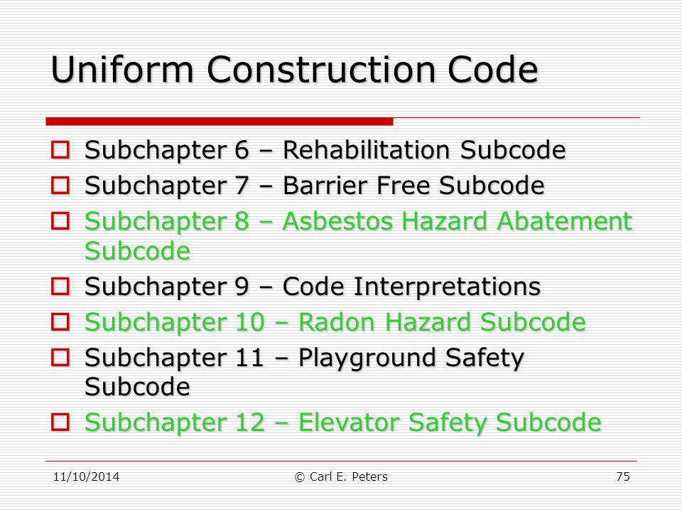 Uniform Construction Code