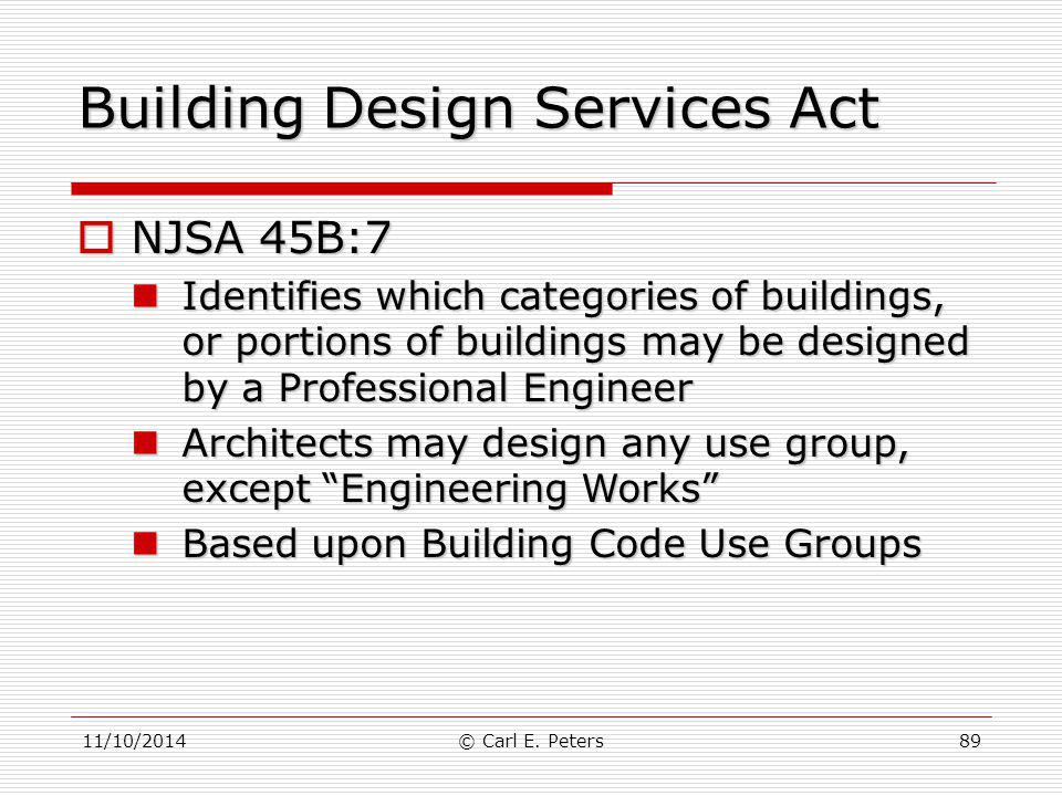 Building Design Services Act