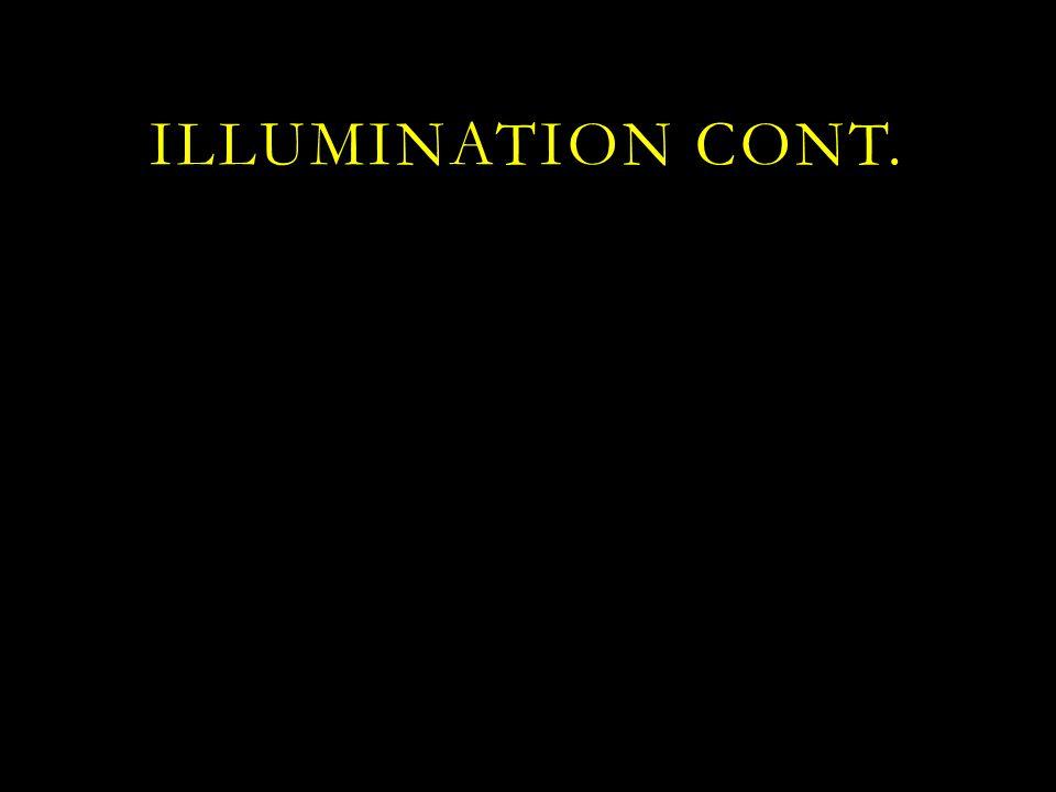 ILLUMINATION Cont.