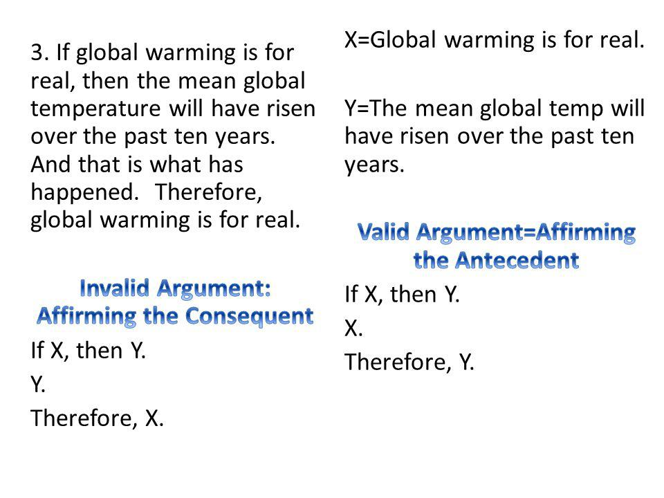 X=Global warming is for real