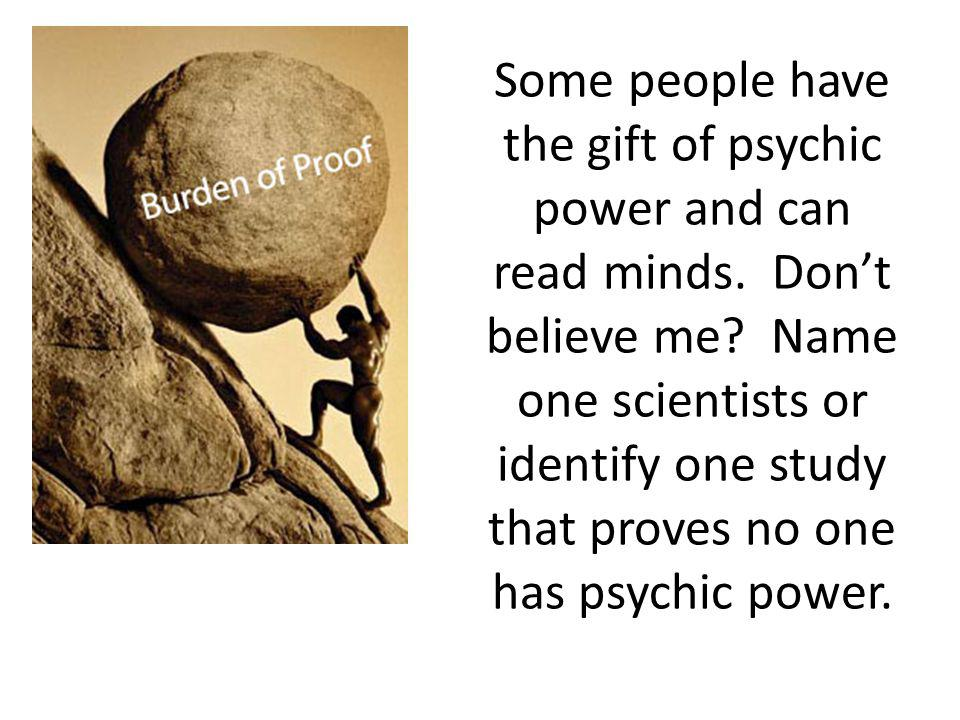 Some people have the gift of psychic power and can read minds