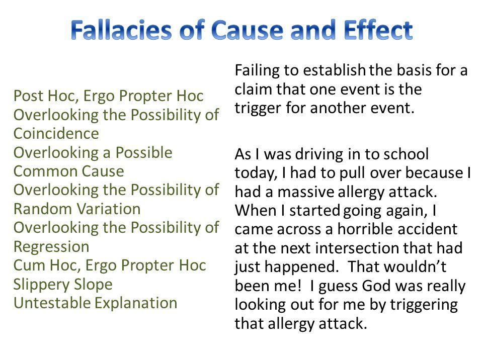Fallacies of Cause and Effect