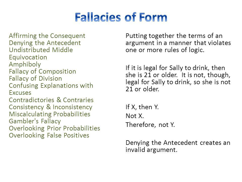 Fallacies of Form