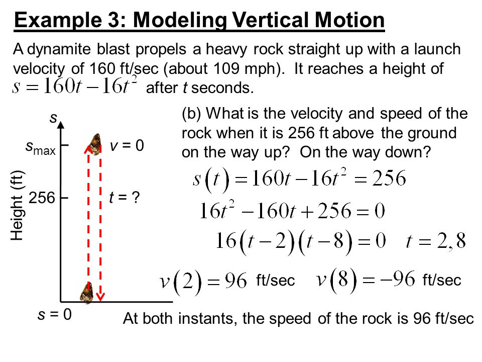 Example 3: Modeling Vertical Motion