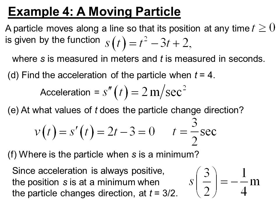 Example 4: A Moving Particle