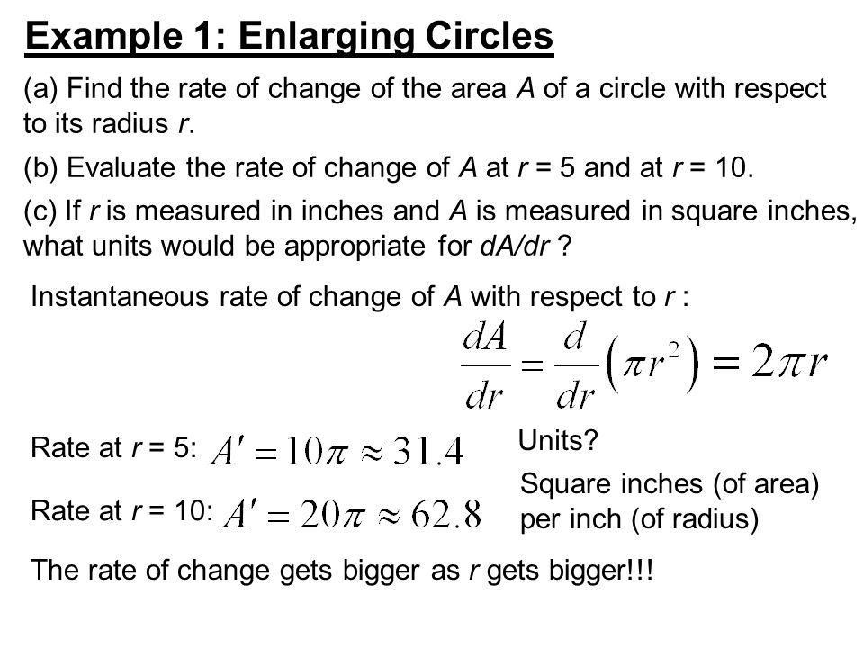 Example 1: Enlarging Circles