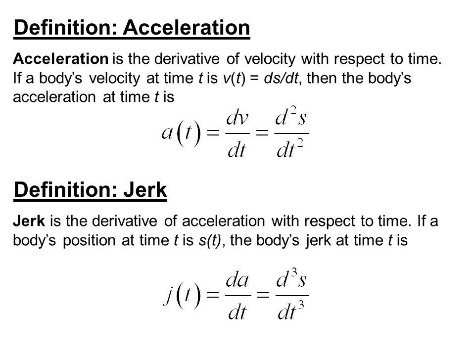 Definition: Acceleration