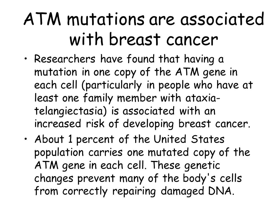 ATM mutations are associated with breast cancer