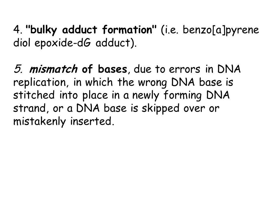 4. bulky adduct formation (i. e
