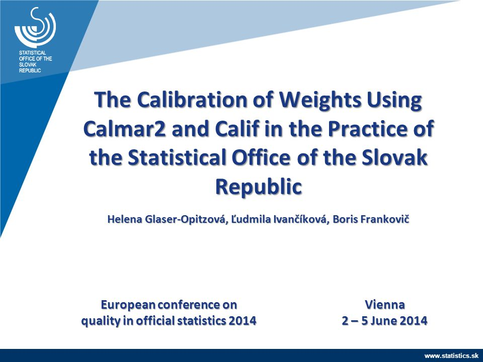 European conference on quality in official statistics 2014