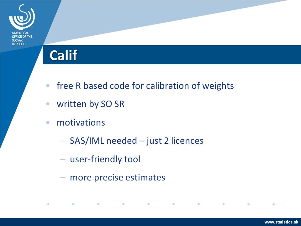 Calif free R based code for calibration of weights written by SO SR