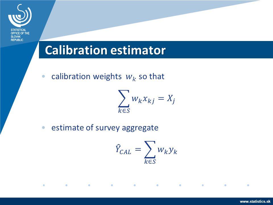 Calibration estimator