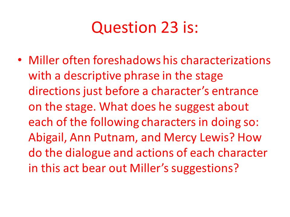 Question 23 is:
