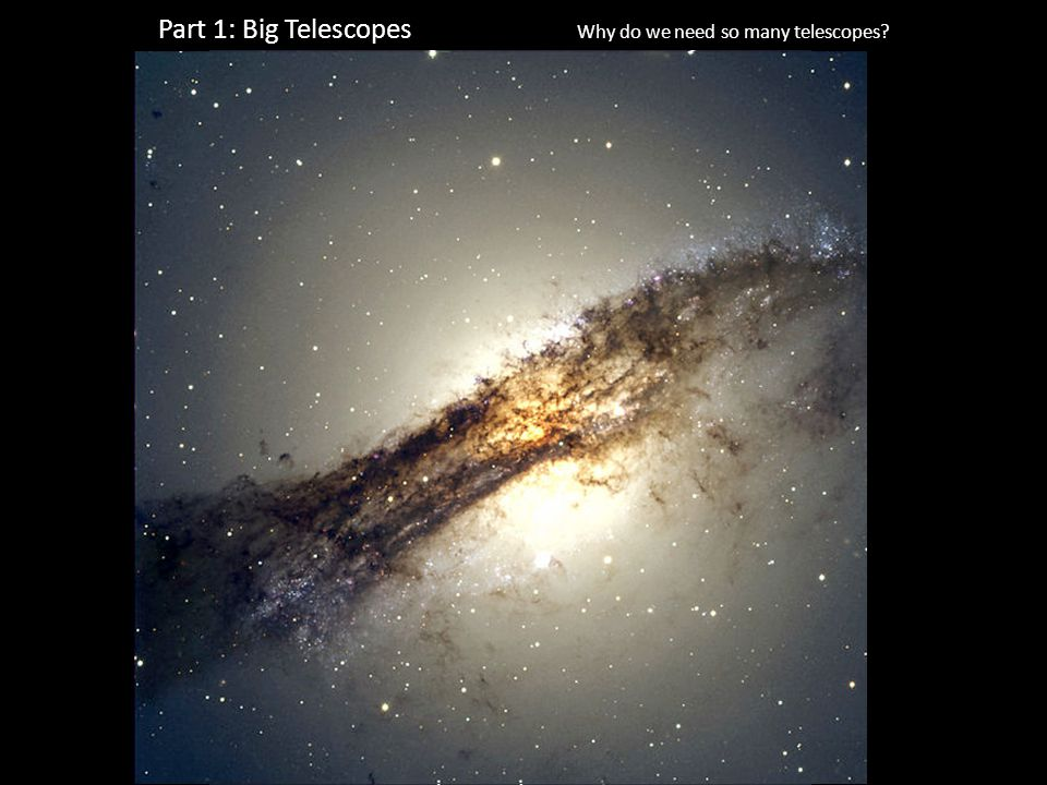 Part 1: Big Telescopes Why do we need so many telescopes