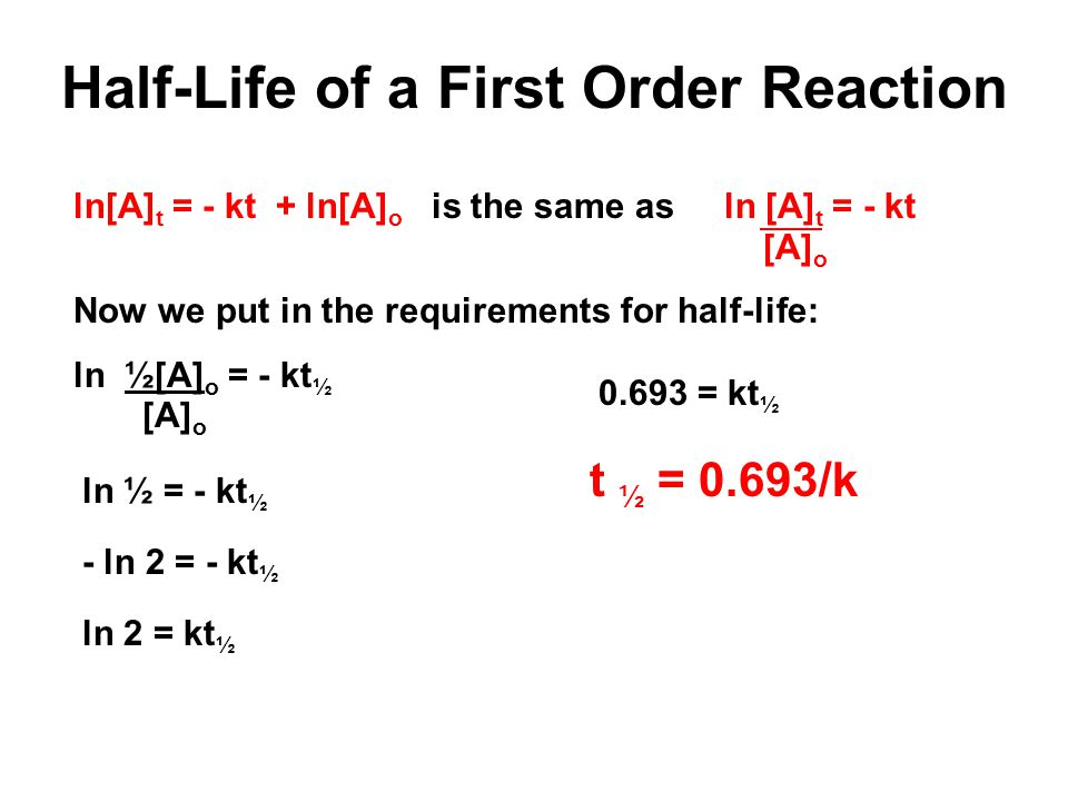 Half-Life of a First Order Reaction
