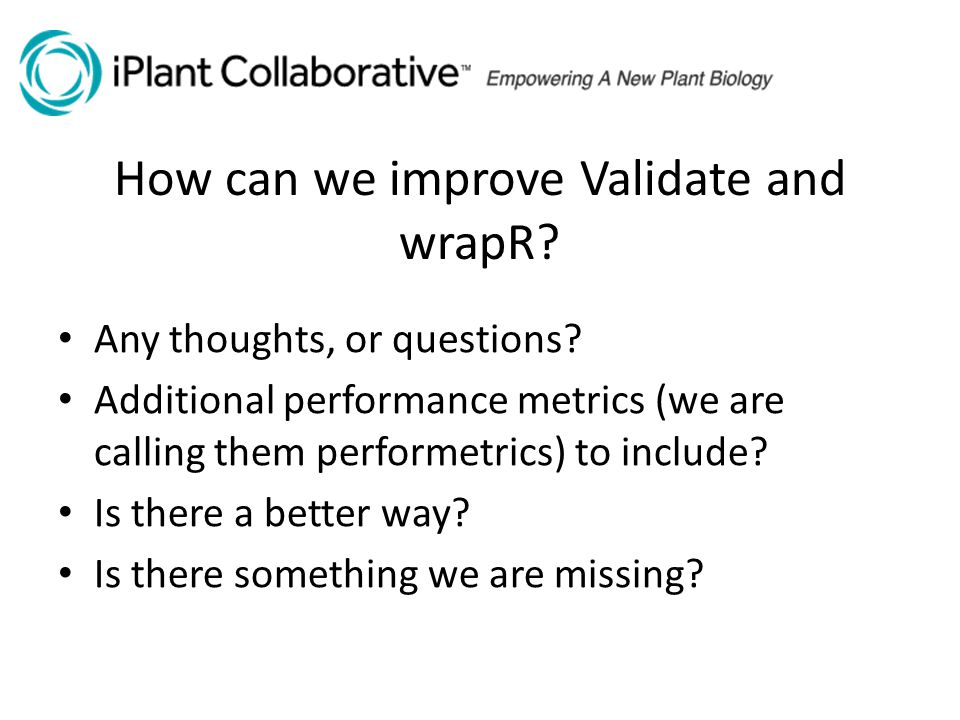 How can we improve Validate and wrapR