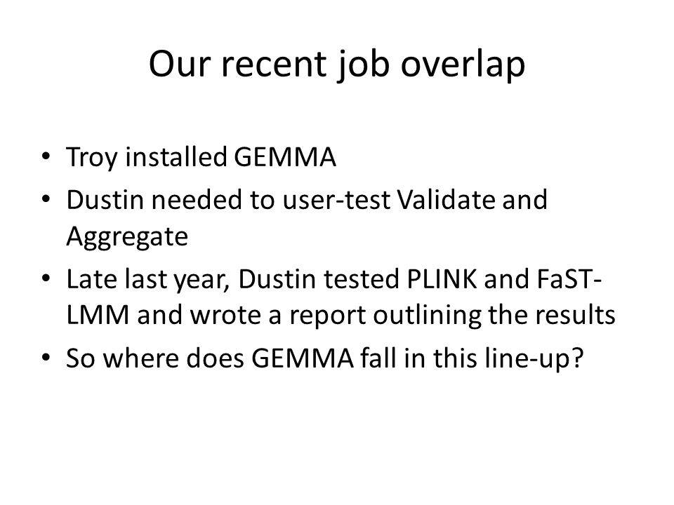 Our recent job overlap Troy installed GEMMA
