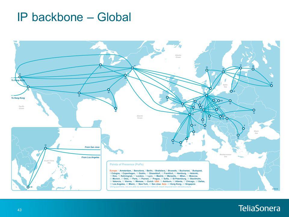 IP backbone – Global And a global look at our capacity backbone.