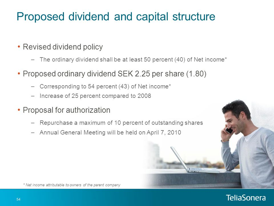 Proposed dividend and capital structure