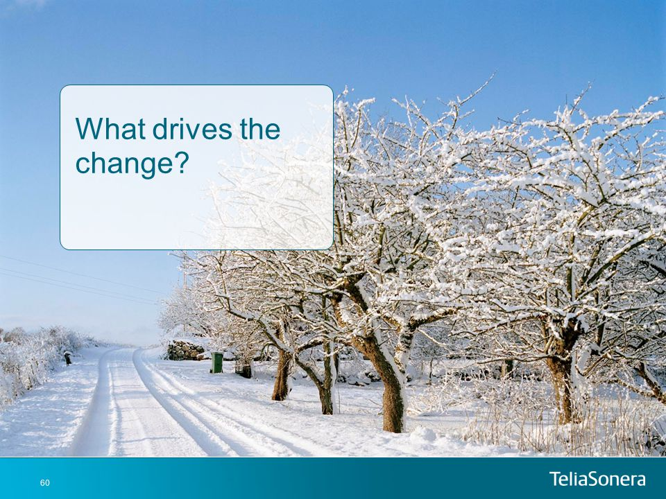 What drives the change