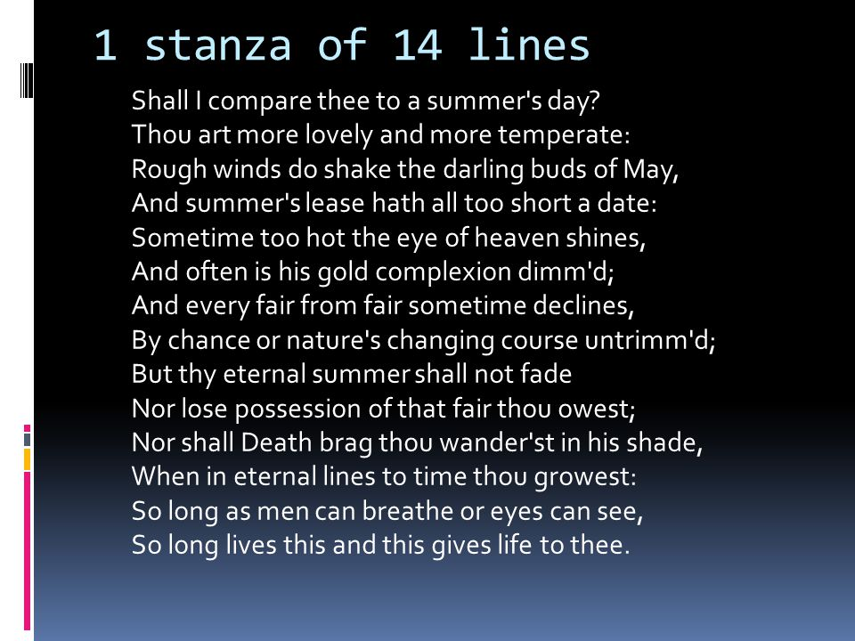1 stanza of 14 lines