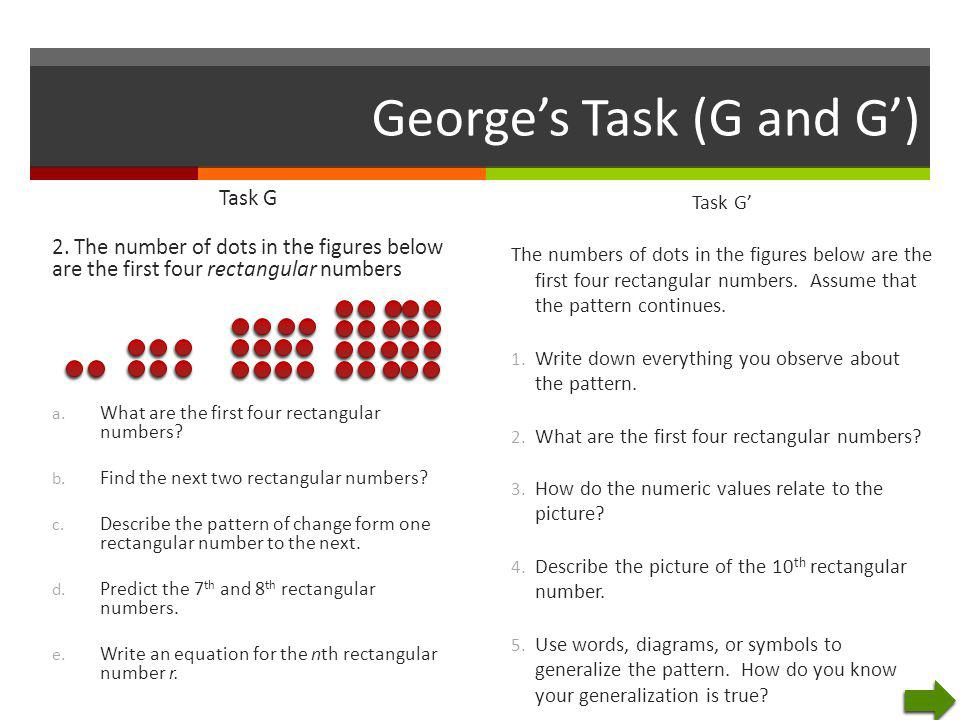 George's Task (G and G')