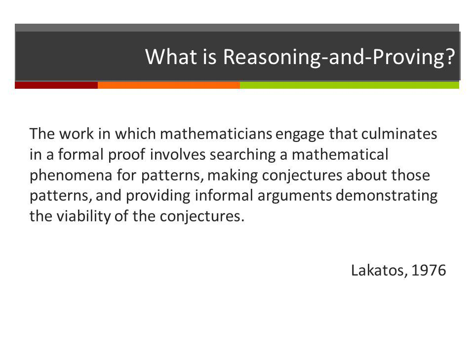 What is Reasoning-and-Proving