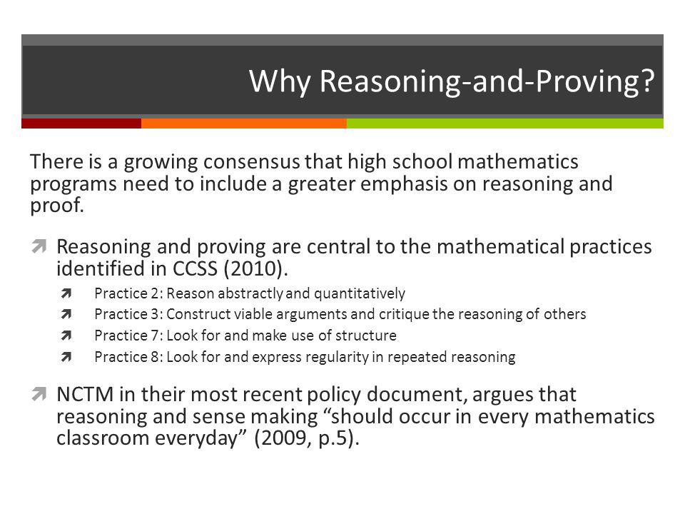 Why Reasoning-and-Proving