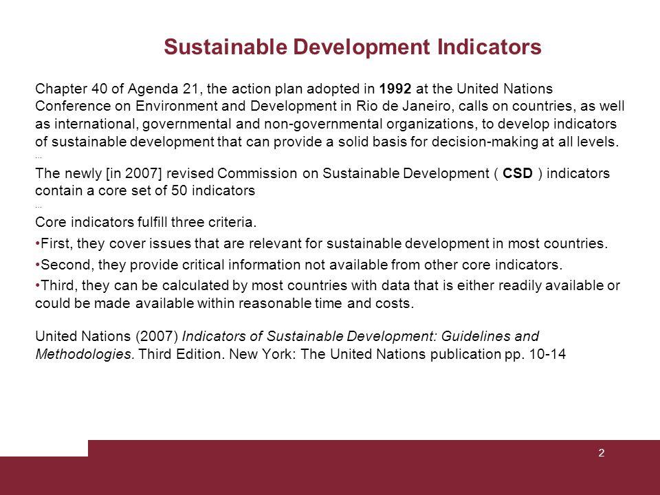 Sustainable Development Indicators